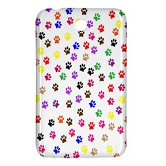 Paw Prints Dog Cat Color Rainbow Animals Samsung Galaxy Tab 3 (7 ) P3200 Hardshell Case  by Mariart