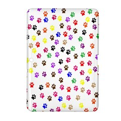 Paw Prints Dog Cat Color Rainbow Animals Samsung Galaxy Tab 2 (10 1 ) P5100 Hardshell Case  by Mariart