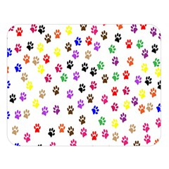 Paw Prints Dog Cat Color Rainbow Animals Double Sided Flano Blanket (large)  by Mariart