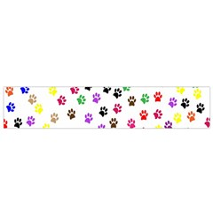 Paw Prints Dog Cat Color Rainbow Animals Flano Scarf (small) by Mariart