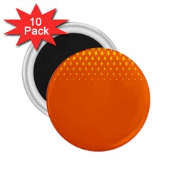 Orange Star Space 2 25  Magnets (10 Pack)  by Mariart