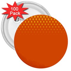 Orange Star Space 3  Buttons (100 Pack)  by Mariart