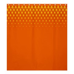 Orange Star Space Shower Curtain 66  X 72  (large)  by Mariart
