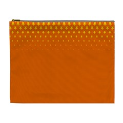 Orange Star Space Cosmetic Bag (xl) by Mariart