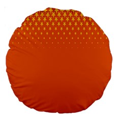 Orange Star Space Large 18  Premium Round Cushions by Mariart