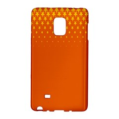 Orange Star Space Galaxy Note Edge by Mariart