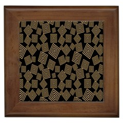 Magic Sleight Plaid Framed Tiles by Mariart