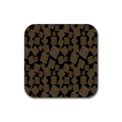 Magic Sleight Plaid Rubber Square Coaster (4 Pack)  by Mariart
