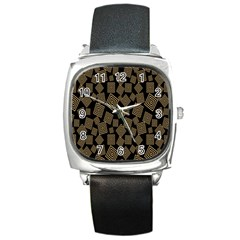 Magic Sleight Plaid Square Metal Watch by Mariart