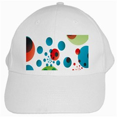 Polka Dot Circle Red Blue Green White Cap by Mariart