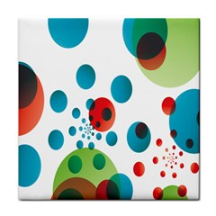 Polka Dot Circle Red Blue Green Tile Coasters by Mariart