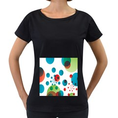 Polka Dot Circle Red Blue Green Women s Loose-Fit T-Shirt (Black) by Mariart