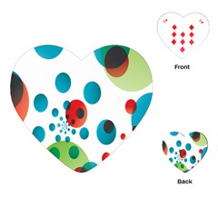 Polka Dot Circle Red Blue Green Playing Cards (heart)  by Mariart