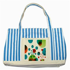 Polka Dot Circle Red Blue Green Striped Blue Tote Bag by Mariart