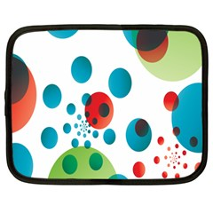 Polka Dot Circle Red Blue Green Netbook Case (large) by Mariart