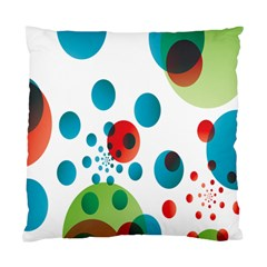 Polka Dot Circle Red Blue Green Standard Cushion Case (one Side) by Mariart