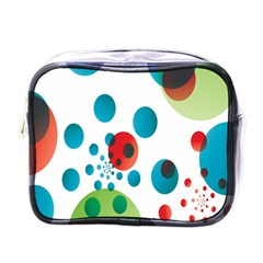 Polka Dot Circle Red Blue Green Mini Toiletries Bags by Mariart