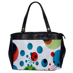 Polka Dot Circle Red Blue Green Office Handbags