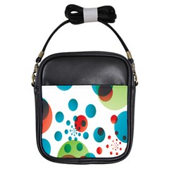 Polka Dot Circle Red Blue Green Girls Sling Bags by Mariart