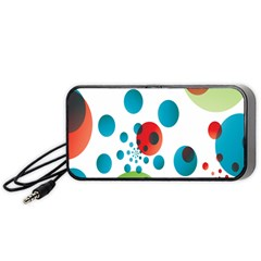 Polka Dot Circle Red Blue Green Portable Speaker (black) by Mariart