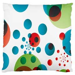 Polka Dot Circle Red Blue Green Large Cushion Case (two Sides) by Mariart
