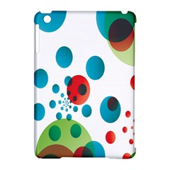 Polka Dot Circle Red Blue Green Apple Ipad Mini Hardshell Case (compatible With Smart Cover) by Mariart