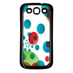 Polka Dot Circle Red Blue Green Samsung Galaxy S3 Back Case (black) by Mariart