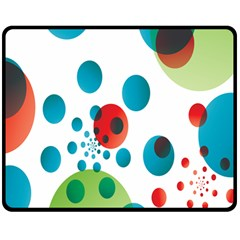 Polka Dot Circle Red Blue Green Double Sided Fleece Blanket (medium)  by Mariart