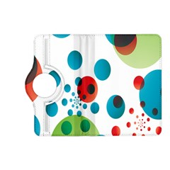 Polka Dot Circle Red Blue Green Kindle Fire Hd (2013) Flip 360 Case by Mariart