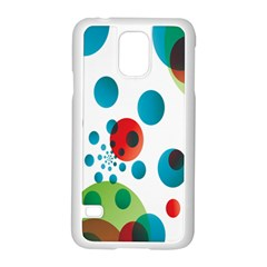 Polka Dot Circle Red Blue Green Samsung Galaxy S5 Case (white) by Mariart