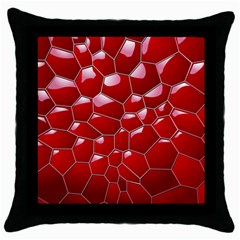 Plaid Iron Red Line Light Throw Pillow Case (black) by Mariart