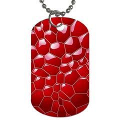 Plaid Iron Red Line Light Dog Tag (two Sides) by Mariart