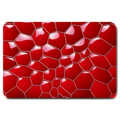 Plaid Iron Red Line Light Large Doormat  by Mariart