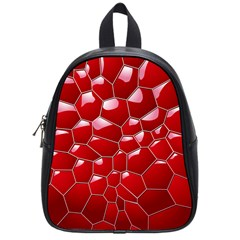 Plaid Iron Red Line Light School Bags (small)  by Mariart