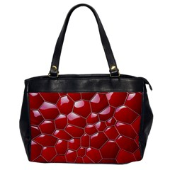 Plaid Iron Red Line Light Office Handbags by Mariart
