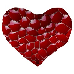 Plaid Iron Red Line Light Large 19  Premium Heart Shape Cushions by Mariart
