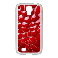 Plaid Iron Red Line Light Samsung Galaxy S4 I9500/ I9505 Case (white) by Mariart