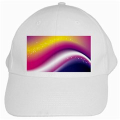 Rainbow Space Red Pink Purple Blue Yellow White Star White Cap by Mariart