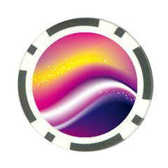 Rainbow Space Red Pink Purple Blue Yellow White Star Poker Chip Card Guard by Mariart