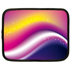 Rainbow Space Red Pink Purple Blue Yellow White Star Netbook Case (xl)  by Mariart