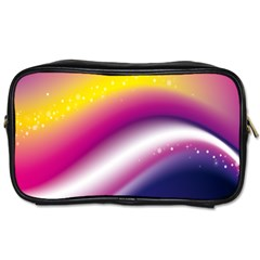 Rainbow Space Red Pink Purple Blue Yellow White Star Toiletries Bags by Mariart
