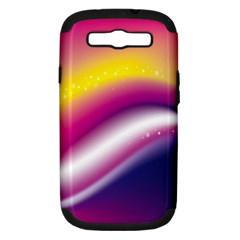 Rainbow Space Red Pink Purple Blue Yellow White Star Samsung Galaxy S Iii Hardshell Case (pc+silicone) by Mariart