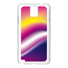 Rainbow Space Red Pink Purple Blue Yellow White Star Samsung Galaxy Note 3 N9005 Case (white) by Mariart