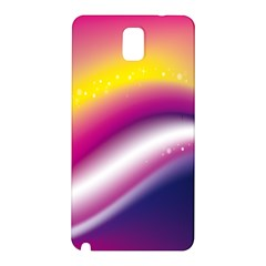 Rainbow Space Red Pink Purple Blue Yellow White Star Samsung Galaxy Note 3 N9005 Hardshell Back Case by Mariart