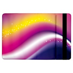 Rainbow Space Red Pink Purple Blue Yellow White Star Ipad Air Flip by Mariart