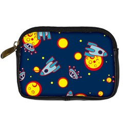 Rocket Ufo Moon Star Space Planet Blue Circle Digital Camera Cases by Mariart