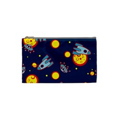 Rocket Ufo Moon Star Space Planet Blue Circle Cosmetic Bag (small)  by Mariart