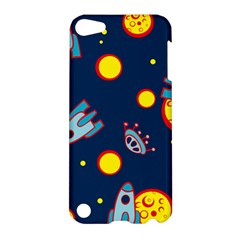 Rocket Ufo Moon Star Space Planet Blue Circle Apple Ipod Touch 5 Hardshell Case by Mariart