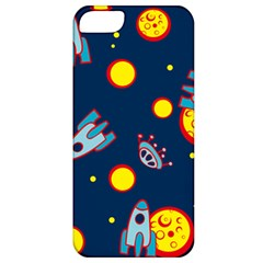 Rocket Ufo Moon Star Space Planet Blue Circle Apple Iphone 5 Classic Hardshell Case by Mariart