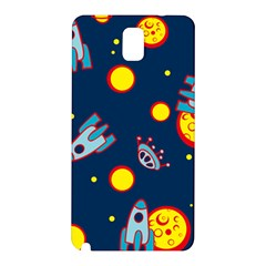 Rocket Ufo Moon Star Space Planet Blue Circle Samsung Galaxy Note 3 N9005 Hardshell Back Case by Mariart